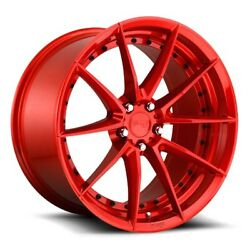 20x10.5 Et35 Niche M213 Sector 5x120 Candy Red Rims Set Of 4
