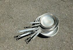 7 Vintage Skillet Fry Frying Pan Camping Cookware Adirondack Camp Fire Culinary