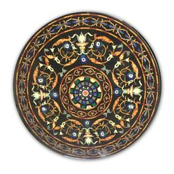 36 Round Pietre Dure Italian Marble Inlay Table Top, Pietre Dure Dining Table