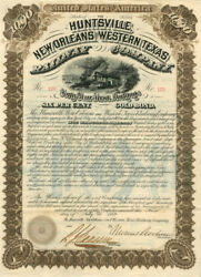 Huntsville, New Orleans And Western Texas Railway Company