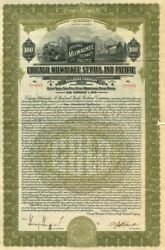 Chicago, Milwaukee, St. Paul and Pacific Railroad Company - $100