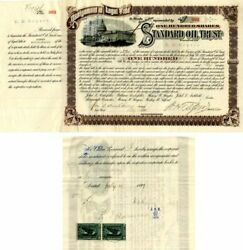 Standard Oil Trust Signed By H.h. Rogers John D. Archbold W.h. Tilford And Tra