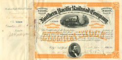 J.d. Rockefeller Signed Northern Pacific Railroad Company