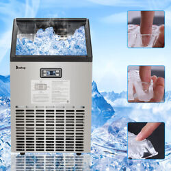 Zokop Commercial Ice Maker Hzb-45 Stainless Steel 270w-500w 99lbs 115v 60hz New