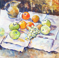 Franklin White - Still Life - Original Painting C.1970 - Free Ship In Us