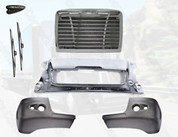 Freightliner Century Center Piece Chrome Front Steel Bumper Cover W/ Two Holes