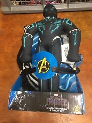 Marvel Black Panther Soft Throw Blanket And Pillow Plush Figure New