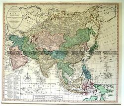 Antique Map 2-136 Asia By Bowles And Carver C.1794