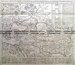 Antique Map 232-264 Middle East In Roman Times By Chatelain C.1719
