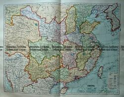 Antique Map 233-318 China By Stanford C.1887