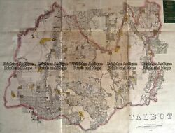 Antique Map 233-454 Victoria - County Of Talbot By Bailliere C.1866