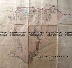 Antique Map 233-453 Victoria - County Of Polwarth By Bailliere C.1866