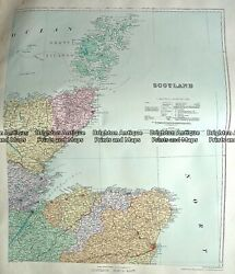 Antique Map 233-307 Scotland - North East By Stanford C.1879