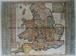 Antique Map 4-174 England And Wales By Chatelain C.1719