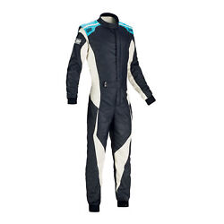 Fia Omp Racing Suit Tecnica Evo Flame Resistant Navy/white Rally Race New 2018