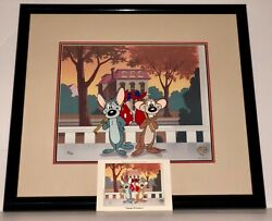 Warner Bros Cel Mouse Wreckers Hubie Bertle Rare Looney Tunes Cell + Promo Card