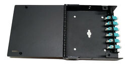 12 Fiber Wall Mount W/ 6 Lc/upc Duplex Adapter Patch Only Multimode 50/125 Om3and4