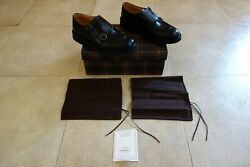 Churchand039s Newby Double Monk Leather Polished Binder Shoes Scarpe 428 Fit G
