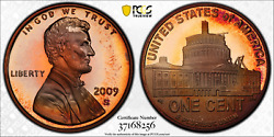 2009-s Lincoln Cent Presidency Pcgs Pr68rd Dcam Penny Red Toned Finest Worldwide