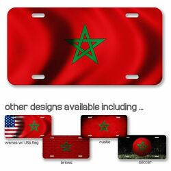 High Grade Aluminum License Plate - Flag Of Morocco Moroccan - Many Options