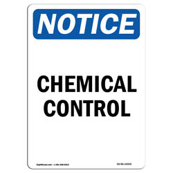 Osha Notice - Chemical Control Sign | Heavy Duty Sign Or Label