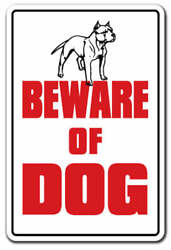 BEWARE OF DOG Decal dog pet parking pit bull Decals security warning guard dog