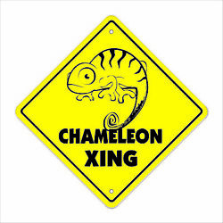 Chameleon Crossing Decal Zone Xing Tall lizard supplies cage heat rock