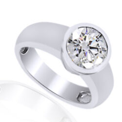 0.48 Ct Round Cut D/vvs1 In 14k White Gold Engagement Ring