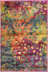 Unique Loom Jardin Collection Colorful Abstract Multi Area Rug 2and039 0 X 3and039 0