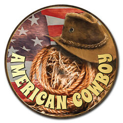 Signmission American Cowboy Circle Corrugated Plastic Sign