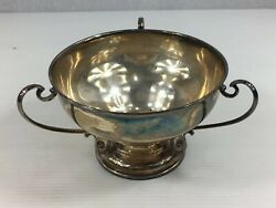 Antique 1911 James Deakin And Sons Solid Silver Three Handled Bowl 8cm In Height