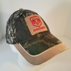 Dodge Ram Hat Truck Mossy Oak Suede Patch Camo Cap Checkered Flag Sports 2005