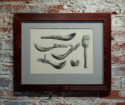 Inuit Antique Carved Tools - 19th Century Engraving