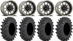 Method 409 14 Gy 5+2 Wheels 32x9.5 Outback Max Tires Pioneer 1000 / Talon