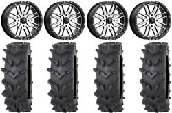 Msa Machined Brute 20 Wheels 36 Outback Maxand039d Tires Polaris Rzr Turbo S / Rs1