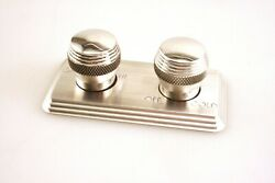 Billet A/c Control Face Plate For Street Rod Or Hot Rod 2 Knob