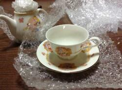 Tokyo Disney Land Alice In Wonderland Tea Pot And Cup And Saucer And Cutlery Set Tdr
