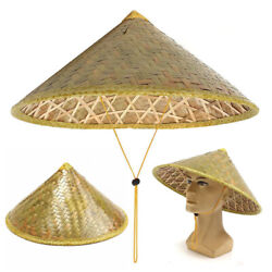 Chinese Oriental Vietnamese Coolie Straw Bamboo Sun Farmer Fishing Rice Hat