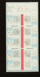 Scott Cvp44 Neopost Rare And Early Jun 26, 2002 Date Booklet Pane Of 10 Stamps