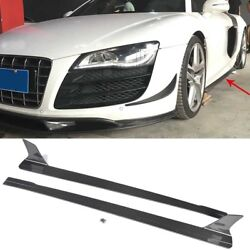 Fit for Audi R8 08-15 Side Skirts Extensions Protector Bodykit Carbon Fiber