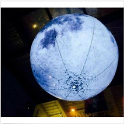 High quality 2M Led Lighted Inflatable Moon Ball for Outdoor Promotion sj