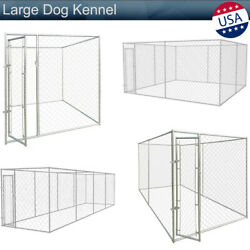 Large Dog Kennel Outdoor Covered Heavy Duty Pet Big Small Dog Cage Fence Exercis