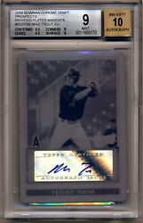 2009 Bowman Chrome Draft MIKE TROUT AUTOGRAPH AUTO  PRINTING PLATE 11 BGS 910