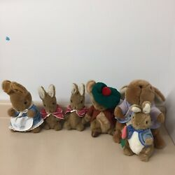 Beatrix Potter Vintage Bunny Lot Of 6 Peter And Mrs Peter Cottontail Rare Ar96