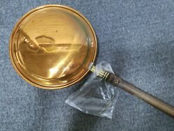 Vintage Antique Copper Bed Warmer W/handle 40 Warming Pan Wood Wall Decor Read