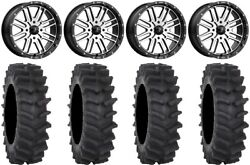 Msa Machined Brute 20 Wheels 36 Xm310r Tires Can-am Renegade Outlander