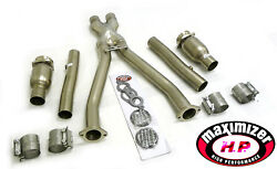 Maximizer Catted Long Tube Exhaust Header For 1997-2000 5.7l C5 Corvette Ls1 7pc