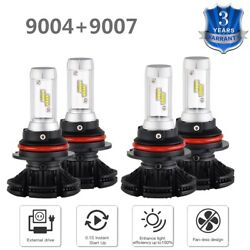 For Dodge Ram 1500 2500 3500 99-01 4x 9004 + 9007 DIY 3Color LED Headlight Bulbs