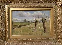 Walter S. Lloyd Antique Oil Painting 1878