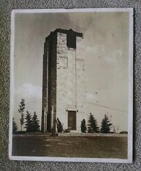 Unknown Undated Stone Tower brick rock castle fortress fort wall trees landscape